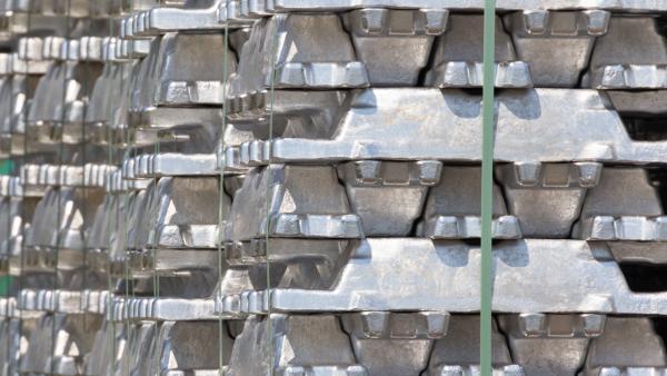 Stacked Aluminium Ingots